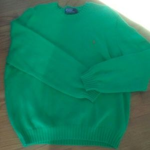 Vintage Mens Polo Ralph Lauren Long Sleeve Green S